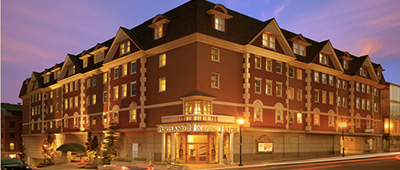 Stay at the on the Portland Harbor Hotel on a Cross Country USA bike tour with Trek Travel