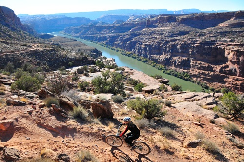 Moab mountain biking tours with Trek Travel